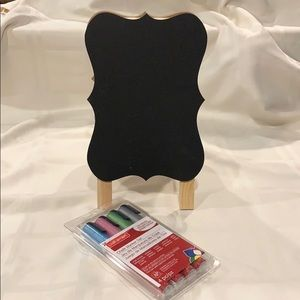 Other - NWOT Chalkboard Easel and Chalk Markers Bundle